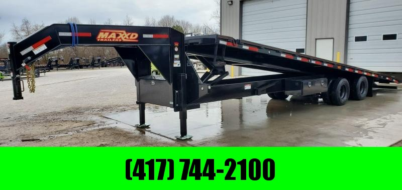 "2020 MAXXD 102X32 TDX FULL TILT GOOSENECK W/HYDROJACKS 12K DISC AXLES(HDSS 48"" SPREAD) & TORQUE TUBE"
