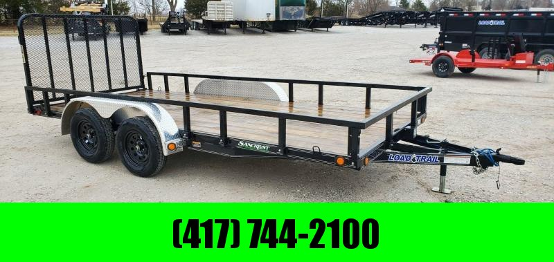2020 Load Trail 83X16 TANDEM 7K UTILTY W/ 4' GATE & REMOVABLE  RAILING/FENDERS