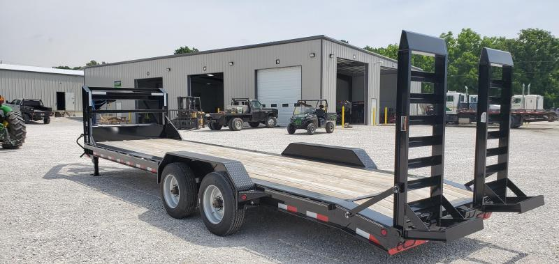 2018 LOAD TRAIL 82X26(24+2) TANDEM 20K GOOSENECK EQUIPMENT HAULER W/10K TORSION AXLES(17.5/16PLY) & EQ. RAMPS