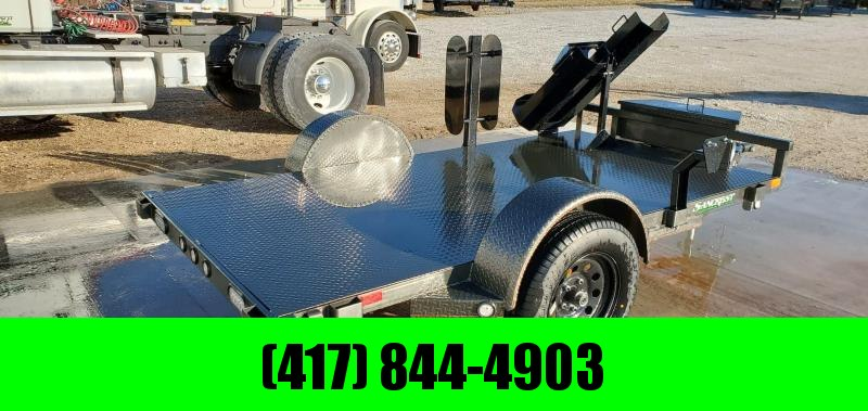 2020 MAXXD 61x10 METALLIC GRAY WELDING TRAILER W/STEEL FLOOR