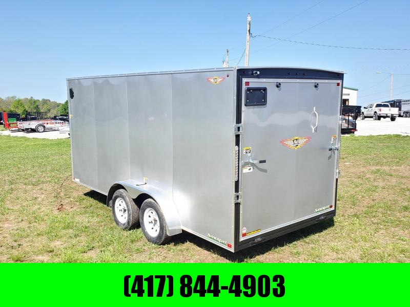 "2020 H AND H 7 X 16 TANDEM SILVER CARGO W/6'6"" HEIGHT"