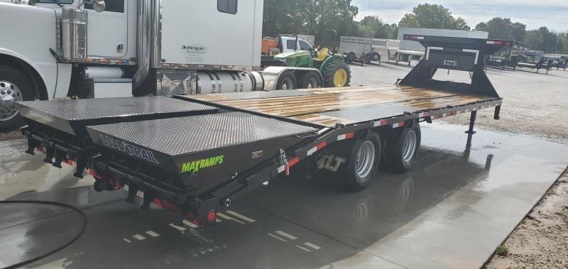 2020 Load Trail 102x28(23+5) TANDEM LO-PRO GOOSENECK W/12K AXLES(HDSS HYD. DISC.) 12K WINCH PACKAGE DECK OVER NECK(45 DEGREE CORNERS) & MAX RAMPS