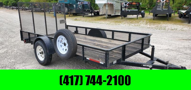 2008 77X12 3.5K SINGLE UTILITY W/ MESH SIDES 4' GATE & SPARE