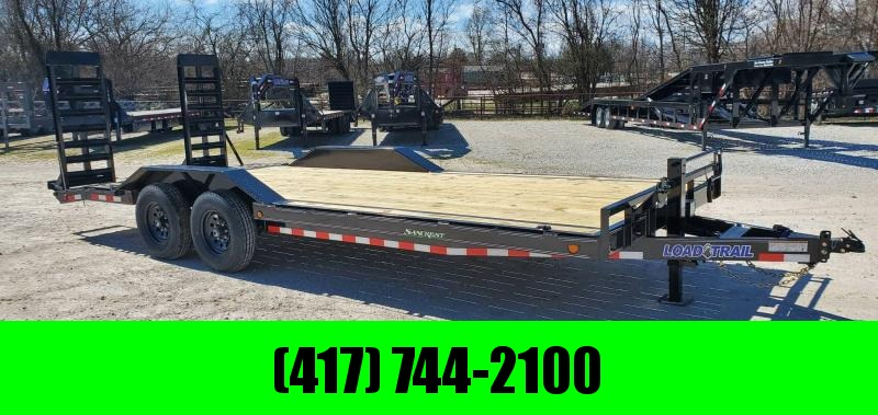 2020 Load Trail 102X22 TANDEM 14K CAR/EQIPMENT HAULER W/ DRIVEOVER FENDERS & HD EQUIPMENT STAND UP RAMPS