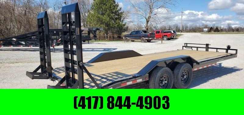 2020 Load Trail 102X22 TANDEM 14K CAR/EQIPMENT HAULER W/ DRIVEOVER FENDERS & HD EQUIPMENT STAND UP RAMPS