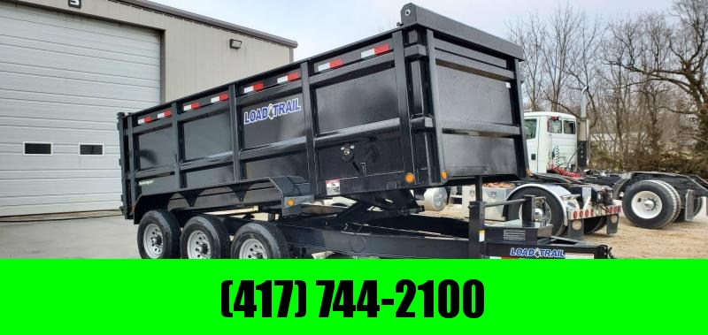 "2020 Load Trail 83X16 TRIPLE 21K  DT DUMP TRAILER W/48"" SIDES"