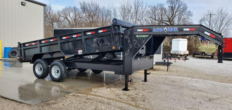 2020 Load Trail 83x16 TANDEM 14K BLACK GOOSENECK DUMP
