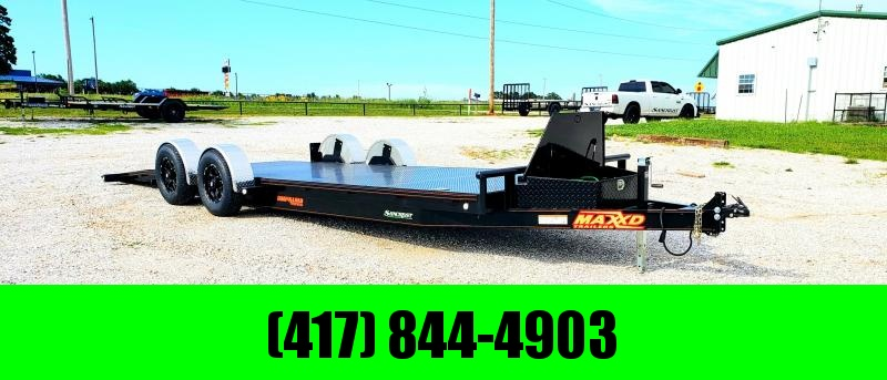 2019 MAXXD 80X24 DROP-N-LOAD TANDEM CAR HAULER W/AIR RIDE SUSPENSION AND 5200 AXLES