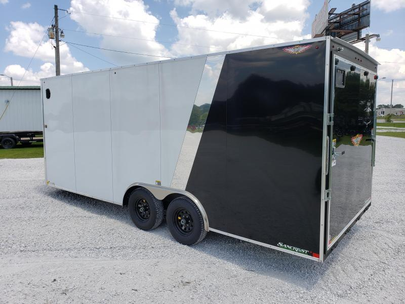 2019 H AND H 101 X 20  CARGO TRAILER (2 TONE)  BLACK AND WHITE