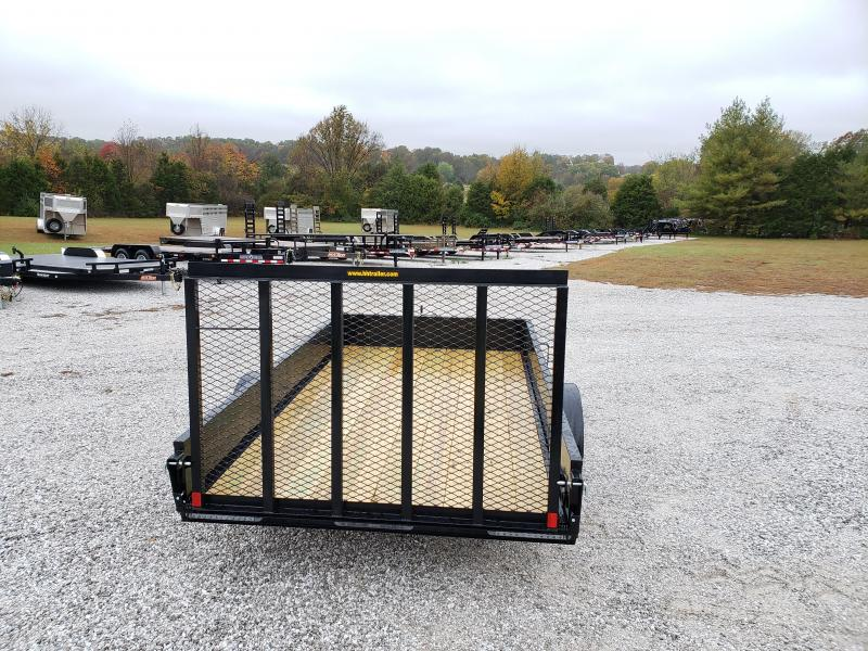 "2020 H&H 82X12 SINGLE 3.5K SOLID SIDE (15"" TALL) UTILITY W/4' TUBE GATE W/SPRINGS"