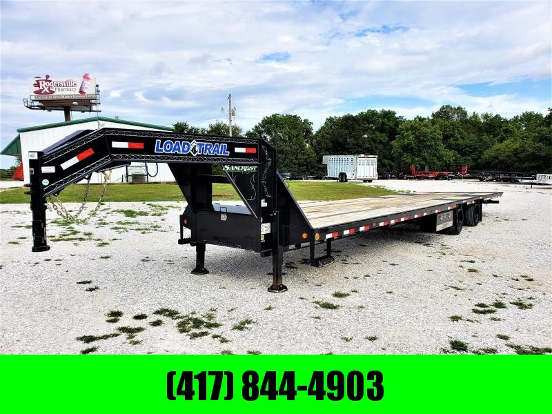 "2019 LOAD TRAIL 102"" x 40' Tandem Low-Pro Gooseneck w/Hyd. Dove Under Frame Bridge & Pipe Bridge ( 12Ks)"