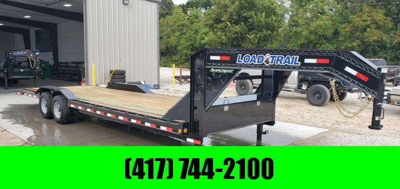 2020 Load Trail 102X28(26+2) TANDEM 14K GOOSENECK CAR/EQUIPMENT HAULER W/SLIDE OUT RAMPS & DRIVEOVER FENDERS