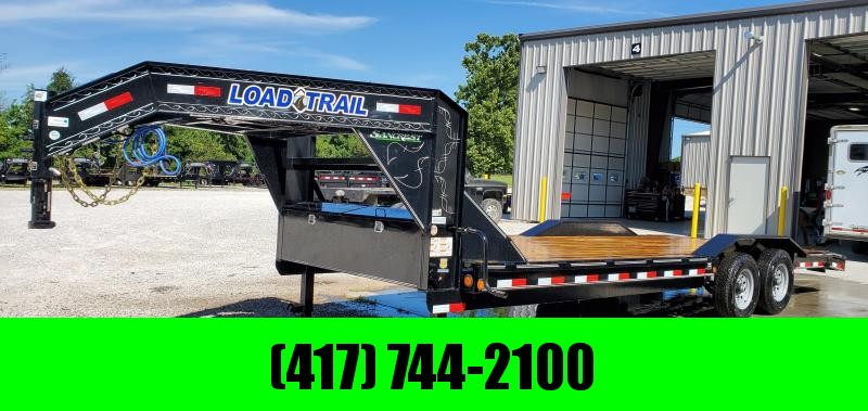 2020 LOAD TRAIL 102X24(22+2) TANDEM 14K GOOSENECK CAR HAULER W/SLIDE OUT RAMPS
