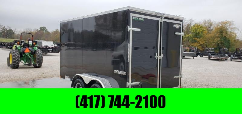 "2020 Impact 7X12 TANDEM 7K BLACK CARGO W/ BARN DOORS & 6'6"" HEIGHT"