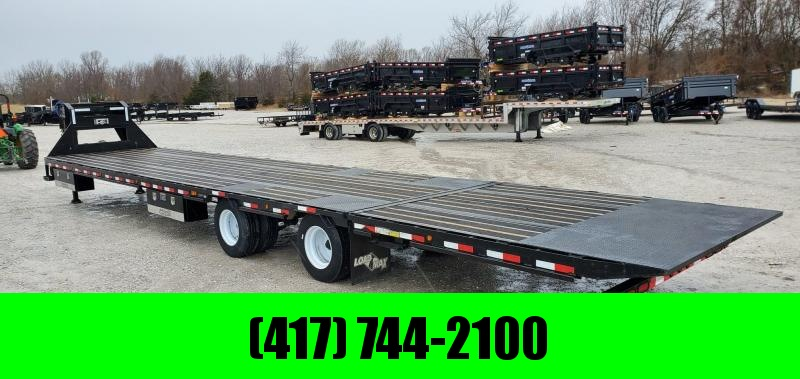 """2019 Load Trail 102x42 LO-PRO GOOSENECK W/12K AXLES(72"""" SPREAD) HYDROTAIL HYDRO JACKS BLACKWOOD 17.5""""/16PLY TIRES ADJUSTABLE RATCHETING RAIL 4-48"""" TOOLBOXES & WINCH PACKAGE"""