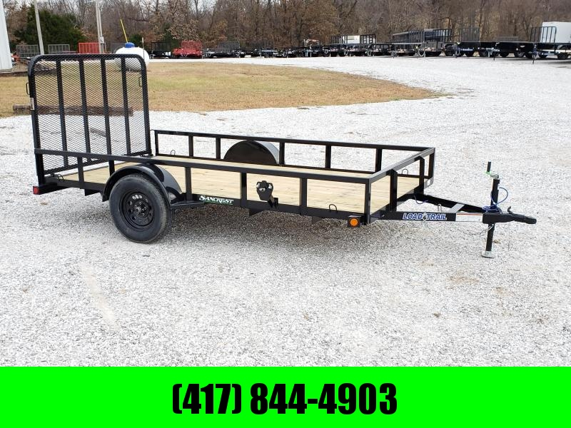 2020 Load Trail 77X12 SINGLE 3.5K TUBE TOP BLACK UTILITY W/4' TUBE GATE