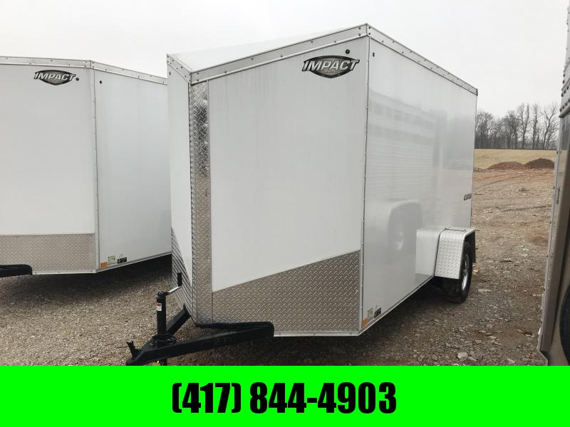 """2019 Impact Trailers 6X12 SINGLE AXLE SLANT NOSE Enclosed Cargo Trailer w/6'6"""" height"""