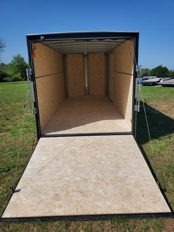 "2020 H and H 7 X 14 TANDEM WHITE CARGO W/6'6"" HEIGHT 10K REMOVABLE JACK & RAMP DOOR"