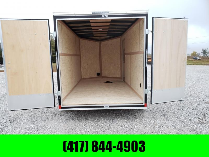 2020 Impact 7X14 TANDEM 7K BLACK CARGO W/ BARN DOORS & 7' HEIGHT