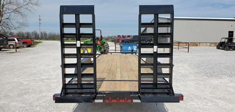 "2020 Load Trail 83X24 TANDEM 14K CAR/EQUIPMENT HAULER W/8"" FRAME 2-10K JACKS & HD EQUIPMENT STAND UP RAMPS"