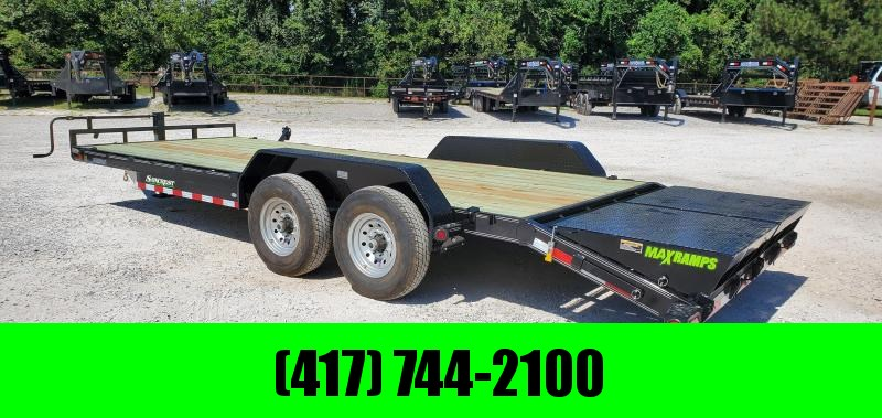 2019 LOAD TRAIL 83X22(19+3) TANDEM 14K CAR/EQUIPMENT HAULER W/MAX RAMPS