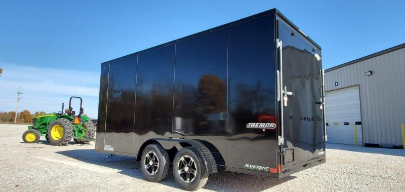 2020 Impact 7X16 TANDEM 7K BLACK TRMOR CARGO W/7' HEIGHT ALUMINUM WHEELS & BLACK OUT PACKAGE