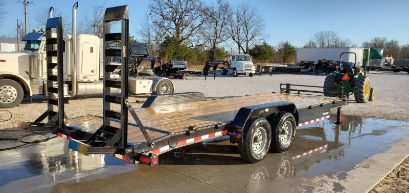 "2020 Load Trail 83x24(22+2) TANDEM 14K CAR/EQUIPMENT TRAILER W/ 2-10K JACKS 8"" FRAME & STAND UP RAMPS"