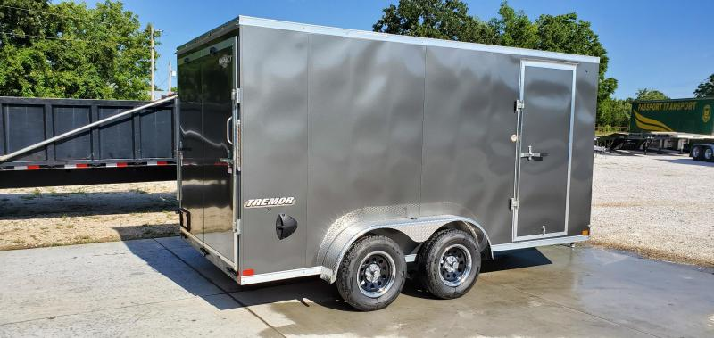 """2020 Impact 7X14 TANDEM 7K CHARCOAL SLANT NOSE CARGO W/6'6"""" HEIGHT"""