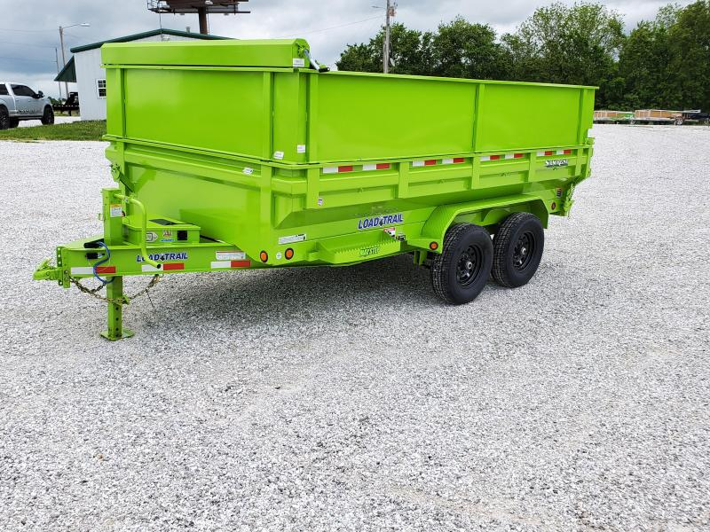2020 LOAD TRAIL 83 X 14 KING BED DUMP TRAILER ( SAFETY GREEN )