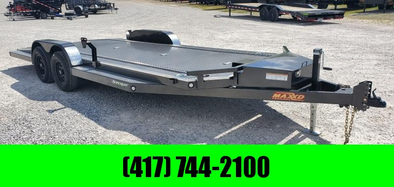 2020 MAXXD 83X20 TANDEM 10K METALLIC GRAY N6X CAR HAULER W/TOOLBOX ETRAC IN-FLOOR LIGHTS