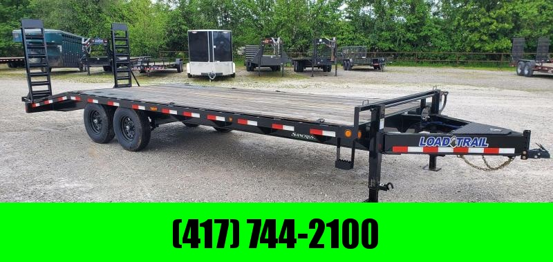2020 Load Trail 102X24 TANDEM 14K DECKOVER PINTLE W/I-BEAM FRAME 5' DOVE & STAND UP RAMPS