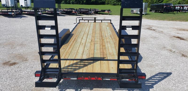 2019 Load Trail 83x22 BLACK Equipment Trailer w/7k axles and flip ramps