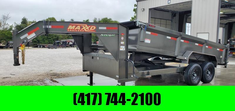 2020 MAXXD 83X16 TANDEM 14K MAXXD GRAY METALLIC DMX GOOSENECK DUMP
