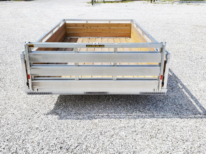 2020 H and H Trailer 82 X 12 ALUMINUM UTILITY TRAILER W/ WOOD SIDES