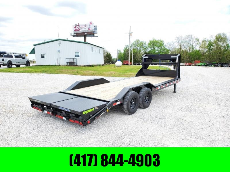 2020 Load Trail 102X22 TANDEM 14K GOOSENECK CAR/EQUIPMENT HAULER W/MAX RAMPS