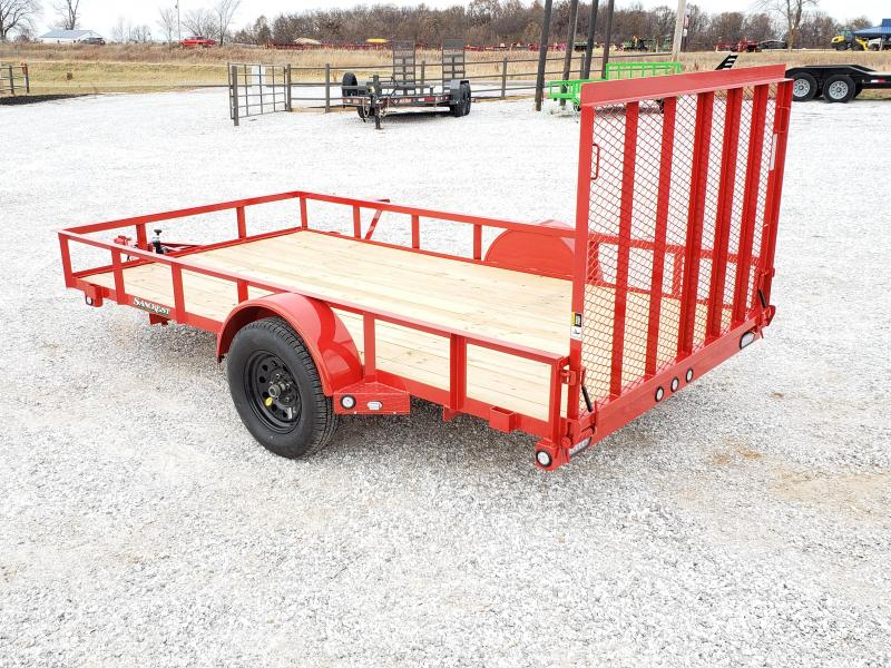 2020 MAXXD 77X12 FLAME RED UTILITY W/4' SPRING GATE