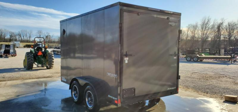 2021 Impact 7X12 TANDEM 7K CHARCOAL TREMOR CARGO W/7' HEIGHT & BLACK OUT PACKAGE