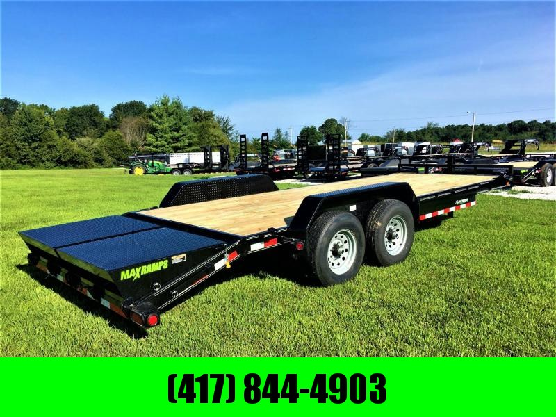 "2019 LOAD TRAIL 83"" x 22' Tandem Axle Equipment Trailer w/ 7Ks"