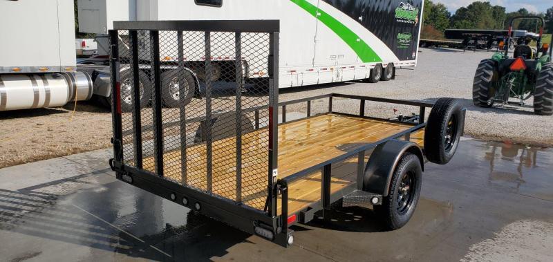 2020 MAXXD 77X12 GRAY METALLIC UTILITY W/4' SPRING GATE