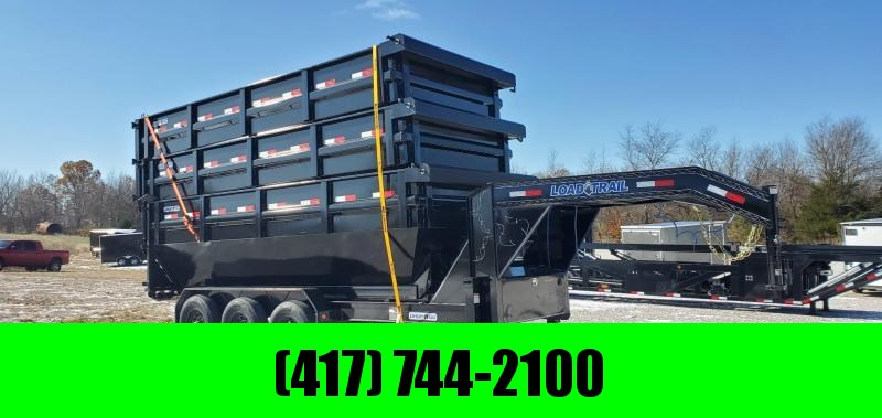2019 Load Trail 83x16 TRIPLE 21K ROLL OFF GOOSENECK TRAILER W/3- 83X16X4 BINS