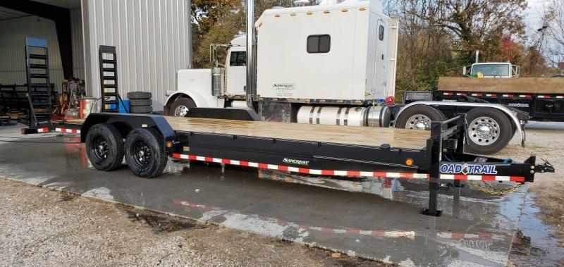 "2020 Load Trail 83x24(22+2) TANDEM 14K CAR/EQUIPMENT TRAILER W/ 2-10K JACKS 8"" FRAME & STAND UP RAMPS"