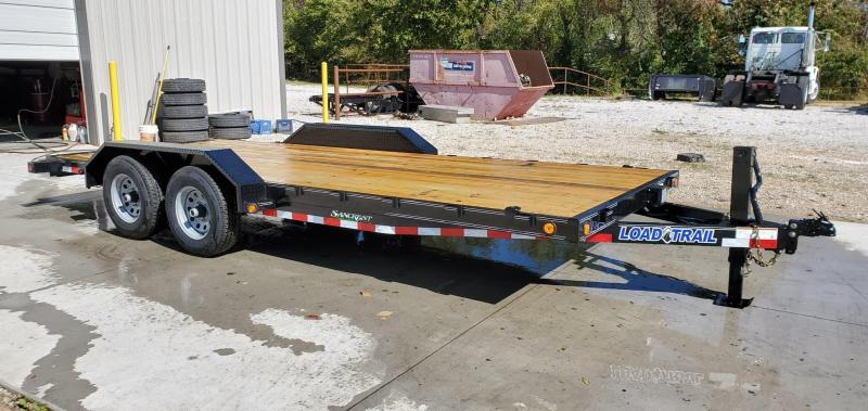 2020 Load Trail 83x18 TANDEM 10K CARHAULER W/STRAIGHT DECK DRIVEOVER FENDERS 10K JACK 8 EXTRA STAKE POCKETS