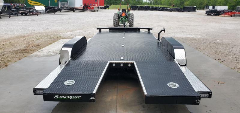 2020 MAXXD 83X18 TANDEM 7K WET BLACK N5X CAR HAULER W/ IN-FLOOR LIGHTS TOOLBOX & SPLIT TAIL