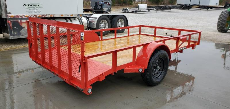 2020 MAXXD 77X12 FLAME RED UTILITY W/3' SPRING GATE & 2ft DOVE