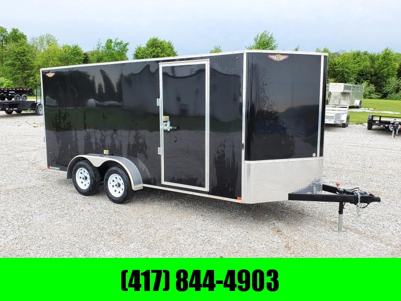 "2020 H and H 7X16 TANDEM 7K BLACK CARGO W/6'6"" HEIGHT7K BLACK CARGO W/6'6"" HEIGHT"