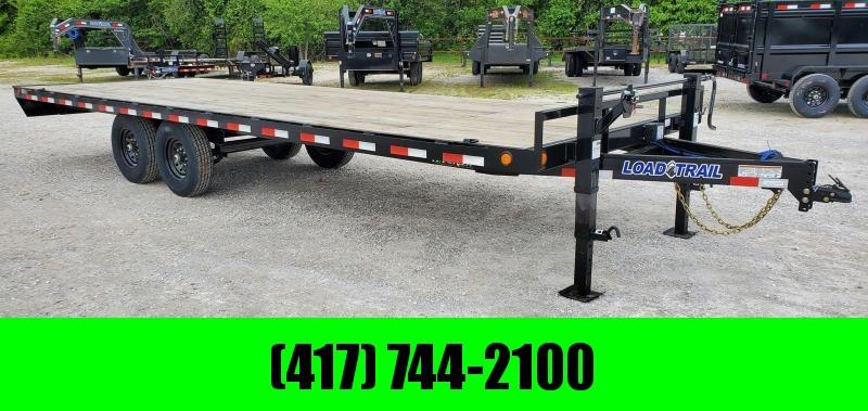 2020 Load Trail 102X24 TANDEM 14K DECKOVER W/ SLIDE-IN RAMPS & 2-10K JACKS
