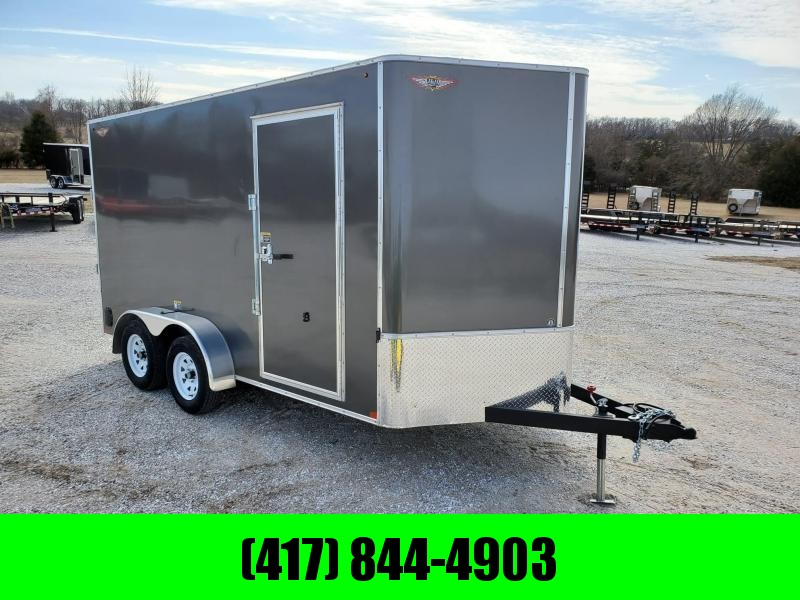 2020 H & H 7X14 TANDEM 7K CHARCOAL METALLIC MIST CARGO W/7' HEIGHT