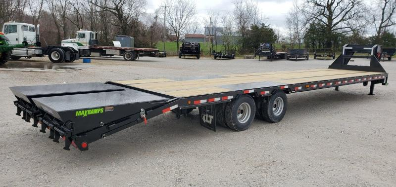 2020 Load Trail 102X40 (35+5) TANDEM LO-PRO GOOSENECK WITH 12K HYD DISC BRAKE AIR RIDE LIFT AXLE MAX RAMPS