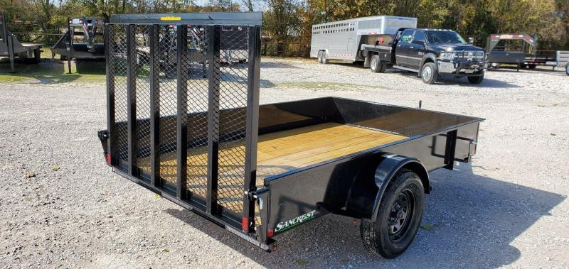 "2020 H&H 76X10 SINGLE 3.5K SOLID SIDE(15"") UTILITY W/4' SPRING GATE"