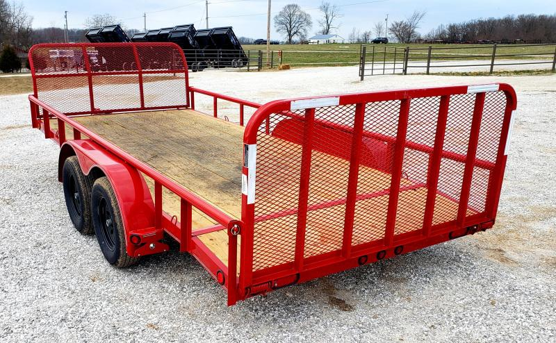 """2018 Load Trail 83"""" x 16' Tandem Axle Utility (4"""" Channel Frame)"""